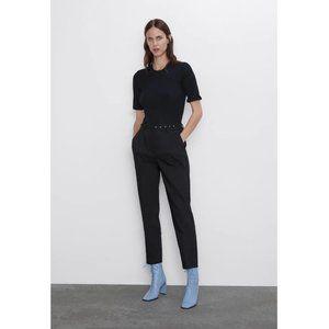 NWT Zara Size M Skinny Belted Pants